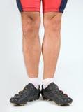 De benen van de fietser Stock Afbeeldingen