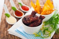 De benen van de kip Stock Foto