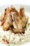 De benen van de kip met stijging Royalty-vrije Stock Afbeeldingen