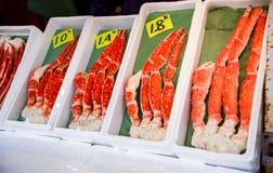De benen van de koningskrab Stock Foto's