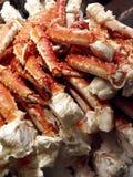 De Benen van de krab op Ijs Stock Afbeeldingen