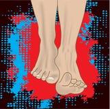 De benen van de mens Stock Fotografie