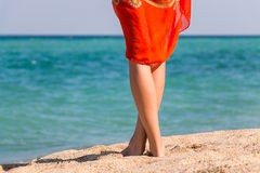 De benen van de mooie vrouw Royalty-vrije Stock Afbeelding