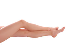 De benen van de vrouw Stock Foto