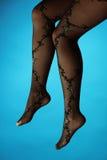 De benen van de vrouw in kousen royalty-vrije stock foto
