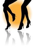 De benen van het silhouet Stock Foto