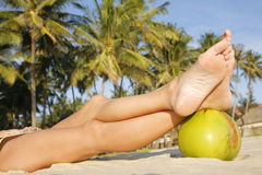 De Benen van het strand stock fotografie