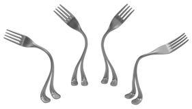 De Benen van het vorkmetaal, Neiging Vier stock illustratie