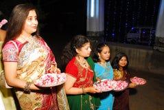 De Bengaalse Rituelen van het Huwelijk in India Stock Foto