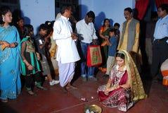 De Bengaalse Rituelen van het Huwelijk in India Stock Fotografie
