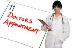 De Benoeming van artsen stock afbeeldingen