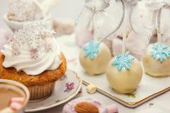 De benoemingen van de de winterlijst met snoepjes Royalty-vrije Stock Foto's