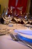 De benoemingen van de lijst bij restaurant stock foto's
