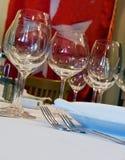 De benoemingen van de lijst voor diner in restaurant Royalty-vrije Stock Foto's