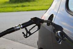 De benzinebenzinestation van het gas Stock Foto's