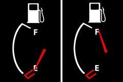 De benzinematen van de benzine royalty-vrije illustratie