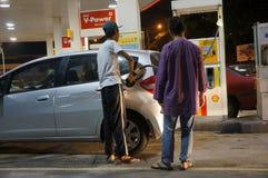 De benzineprijs gaat uit Royalty-vrije Stock Afbeeldingen