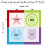 De Beoordelingsgrafiek van de bedrijfwaardevaststelling Stock Afbeelding