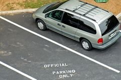 De beperkingen van het parkeren stock afbeeldingen