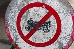 De beperkingsteken van de motorfiets Stock Foto's