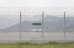 De beperkte luchthaven van Hongkong van het gebiedsuithangbord stock foto