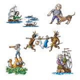 De berömda utforskarna i Australia_1 royaltyfri illustrationer
