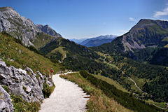 In de Berchtesgaden-Alpen, Duitsland Stock Afbeeldingen