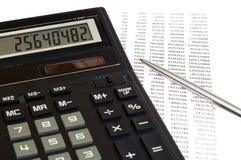 De berekening van de belasting Stock Fotografie