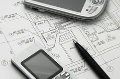 De berekening van de bouw royalty-vrije stock afbeelding