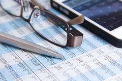 De berekening van de voorraad, Belasting royalty-vrije stock afbeelding