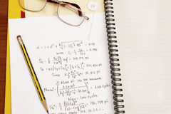 De berekening van het ontwerp Stock Foto