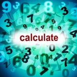De berekeningswiskunde vertegenwoordigt Één Twee Drie en Wiskunde Stock Foto's
