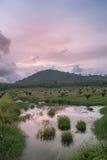 De berg in avondtijd Stock Foto's