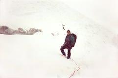 De berg beklimt Stock Foto's