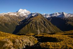 De berg betrekt 2 royalty-vrije stock afbeeldingen