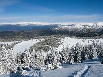 De berg de Pyreneeën van de sneeuw Stock Afbeelding