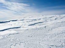 De berg de Pyreneeën van de sneeuw Stock Afbeeldingen