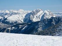 De berg de Pyreneeën van de sneeuw Royalty-vrije Stock Foto