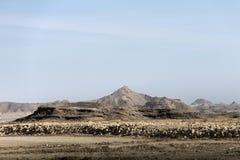 De berg dhofar bergen salalah Oman van de landschapsmening Stock Foto