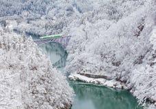 De berg en de sneeuw van Japan stock foto's