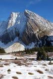 De berg en de weide van de sneeuw Royalty-vrije Stock Fotografie