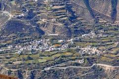 De Berg en het dorp van de Meilisneeuw Royalty-vrije Stock Fotografie