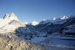 De berg Foratata, tenavallei van de sneeuw Stock Foto
