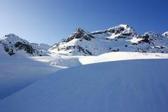 De berg Foratata, tenavallei van de sneeuw Stock Fotografie