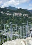 De berg overziet, het Noorden Carolina State Park van de Schoorsteenrots royalty-vrije stock foto's