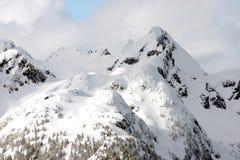 De berg piekmening van de winter Royalty-vrije Stock Afbeeldingen
