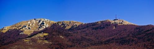 De berg piekpanorama van Plesevica van Licka Stock Fotografie