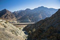 De berg Ras Al Khaima van Jebeljais stock fotografie