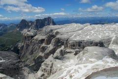 De berg rotsachtig landschap van dolomietalpen Stock Foto