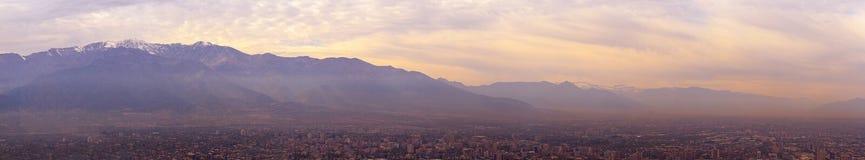 De berg Santiago DE Chili van de Andes Royalty-vrije Stock Foto